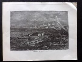 Voyages and Travels 1887 Antique Print. Hacienda of Lauramarca, Peru